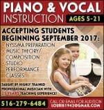 Studio Concertina – Piano & Vocal Instruction