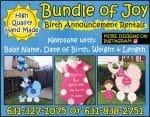 Bundle of Joy Birth Announcement Rentals
