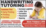 Handwriting Tutoring