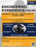 NYIT Summer Engineering Experience Program for High School Students
