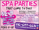 At Home Spa Parties